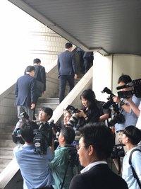 [포토뉴스]'이재용 선고공판' 법정 출석하는 삼성 前임원들