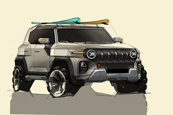 쌍용차, 차세대 SUV 'KR10' 디자인…미래 디자인 방향 제시